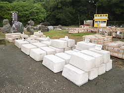 庭石・石灯籠販売コーナー